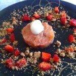 dessert du jour :compotée de rhubarbe