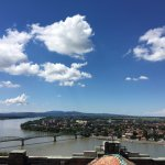 View from the top of the Esztergom Basilica - toward Sturovo