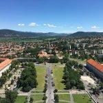 View from the top of the Esztergom Basilica - toward Esztergom