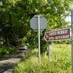 Sign from Dunkineely (Road N56) to Castle Murray Hotel & Restaurant.