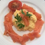 Eggs and smoked salmon