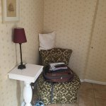 Sitting area in Room 15 (in room with twin bed and garden entrance)