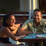 Guest Enjoying Drink at Terrace Restaurant & Lounge Bar