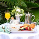 Breakfast in the Planters Inn Courtyard is a beloved tradition for visitors to Charleston, South