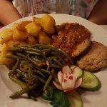 Pork loin in orange & ginger