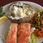 Salmon dinner special