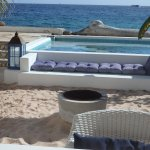 Beach House Pietermaai, private pool, ocean front, privacy, bed room with sea view. Culinary are
