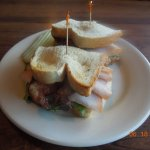 Turkey Club Sandwich with Bacon