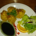 Steamed parcels with minced pork as prawn to start and jungle curry for main. Amazing food here.