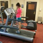 Fitness Center. You can adjust the temp of the a/c unit. Towels, water and ear buds provided.