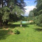 magnifique parc arborisé, avec piscine