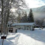 Birkelund camping in wintertime