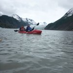Kayaking the glacial lake