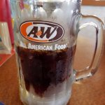 Icy mug of A&W root beer