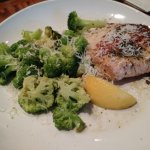 Herb-grilled salmon with parmesan garlic broccoli