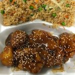 Sesame Chicken with Vegetable Fried Rice