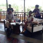 Arrival travelers stress massage