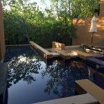 Private villa suite pool