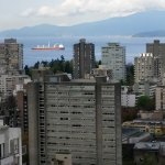 Spectacular view of English Bay from the 27th floor.
