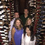 In the Bern's wine cellar - so many bottles!!
