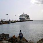 cruise ship docked at Fredrikstaed