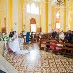 En el interior de la catedral, durante mi boda religiosa.