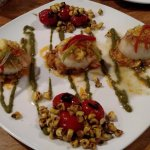 Scallop special with corn.