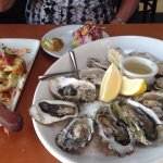 Oysters and Fried Avocado Appetizers