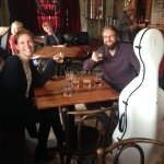 Cellist Steuart Pincombe with singer/manager/partner Michelle Pincome