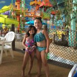 in front of younger kid pool area