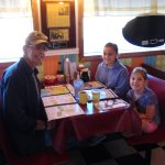 Grampy and grandchildren on the way to a fishing trip. Food was outstanding and portions were hu