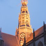 Haarlem cathedral viewed from Market Plaza