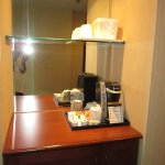 coffee and tea station in the room