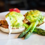 Eggs Benedict at the Clubhouse