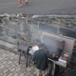 Mike BBQing steaks