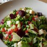Veggie burger w/side salad; Vegetable salad (get the ranch dressing)
