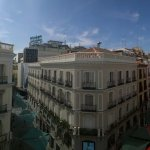 Panoramic view of Madrid center from our room at Hotel Europa