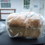 MASSIVE Loaf of white bread, wonderful fluffy texture!