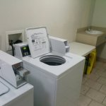 Laundry facilities $2 wash, $1 dry
