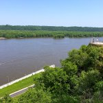 Overlooking the Mississippi from the bluff