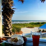 A beautiful view from the deck at the Boardwalk Snack Bar.