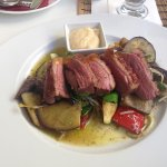 Duck breast with antipasti vegetables