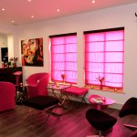 The bright pink bar at Table Manors