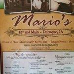 Mario's Menu (Front Cover)