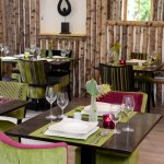 Vibrant greens and pinks at Table Manors