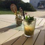 Cocktails at Flisvos Kite Centre, Mikri Vigla, Naxos