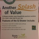 our shower did not have multiple settings and the curtain rod was not curved like this flyer ins