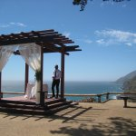 This was the lovely wedding pergola overlooking the ocean