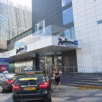 Radisson Blu Water Front Hotel Entrance from outside