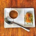 Turkish coffee and baklava